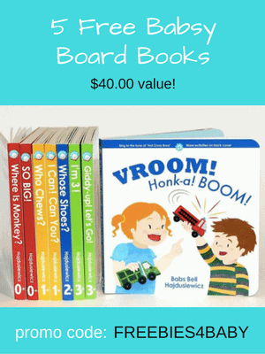 Babsy - Get 5 Free Baby Board Books with code:  FREEBIES4BABY