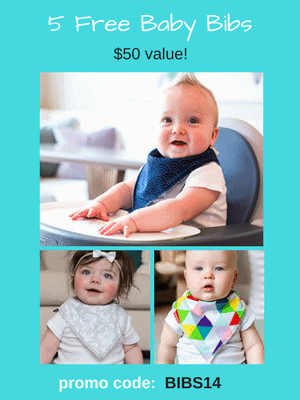 Free Baby Bandana Bibs - $50 value! Use code: BIBS14 at checkout.