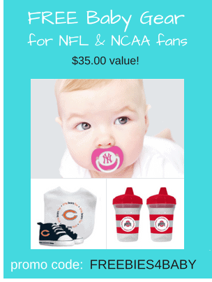 Free Baby Fan Gear - $35 value! Use code: FREEBIES4BABY at checkout.
