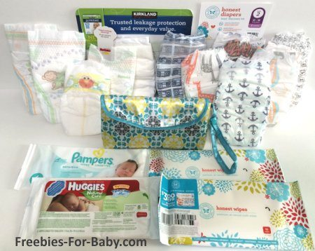 Free Diaper Samples + Wipes that came in my mailbox from Freebies-For-Baby.com