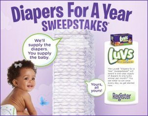 Luvs Diapers - Win Free Diapers for 1 Year