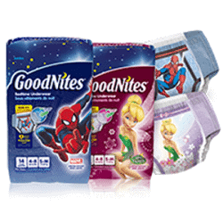 Free Samples of GoodNites diapers