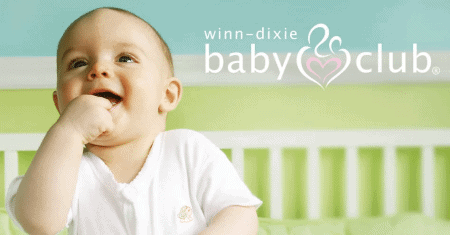 Winn Dixie Baby Club perks:  free diapers, wipes, high-value coupons
